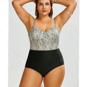 Other - Leopard Print One Piece Swimsuit